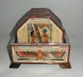 Posavasos de madera conjunto, egipcia hecha a mano, de madera, papiro, la madre de la perla de decorado, 6 posavasos