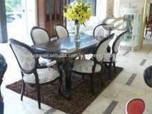Nova mobília da sala de jantar mesa de sala de jantar conjunto de madeira clássico com cadeira