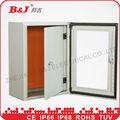 Metal caixa de vidro/duplo porta da caixa/interno portas duplas gabinete industrial