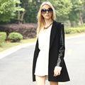 YIGELILA Las mujeres de la moda abrigo de manga larga de cuero 928