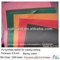 hot venda de couro sintético do plutônio para o vestuário de senhora