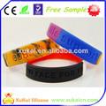 Eco- ambiente sensor de movimiento de led de silicona pulseras pulseras