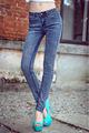 al por mayor pantalones vaqueros mujeres de talle alto