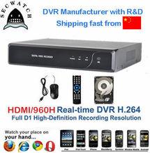 4 canales H.264 DVR Económico / dvr barato