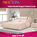 nuevo modelo de muebles de cuero moderno cama h8021