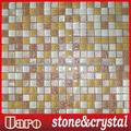 beige acristalada de cristal mosaico de piedra