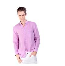 2014 el último diseño de la naturaleza de lino camisa de los hombres