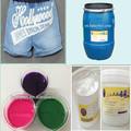 dongguan famosa marca de jeans da tela de seda impressão de pasta