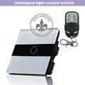 Soltero Gang interruptor de la pared de vidrio Wireless Local de Control de Negro / Blanco Fácil instalación ZMW10-252