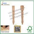 De alta calidad del poste de madera para cocina en isla y mesas de comedor, ronda de madera patas de la mesa