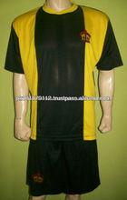 Adultos de gestión de la humedad v- cuello uniformes personalizados fútbol/equipo juvenil de fútbol personalizada uniformes