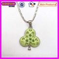 Metal ornement strass vert pendentif arbre de vie #11636 pour faire des collier