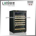 lvni 46 china botella pantalla vino tinto frigorífico compresor del refrigerador de vino refrigerador vitrina enfriadora