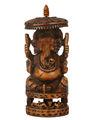 señor ganesha estatua de madera tallado estatua de ganesh