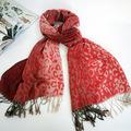 2014 dama de la moda de invierno largo suave pañuelo de leopardo chal silenciador de venta al por mayor