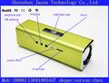Mini caixa de som alto-falante portátil com usb e cartão sd