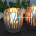 suporte de vela de bambu vela de vidro stand
