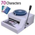 100% brand new 70- personagem manual pvc id cartão de crédito embosser máquina, impressora de cartão pvc máquina