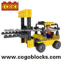 COGO vehículo de construcción ladrillos pequeños 50PCS bloques y construccion educativos