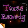 bling personalizado sencillo cartas texas remedio rhinestone transferencias