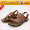 de moda para hombre hecho a mano sandalias de cuero genuino