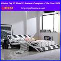 cama de lujo conjunto dormitorio moderno
