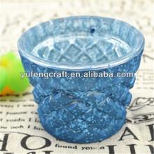centro de piezas de la boda mesa 5 brazos candelabro de vidrio de la lámpara de cerámica