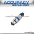 Conector hembra XLR para micrófono XLR009