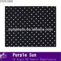 el último net bordado de tela de diseño negro