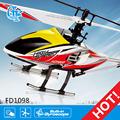 tornado fd1098 3d rtf caja de aluminio para rc helicóptero del fuselaje