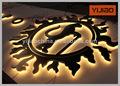 de acero inoxidable decorativa led letras del alfabeto