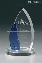 recuerdos de onda de cristal regalos de placa de cristal trofeo