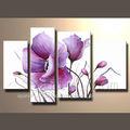 de alta calidad púrpura de flores pintura al óleo para la decoración