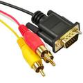 vga de 15 pines a 3 rca cable de audio/video cable
