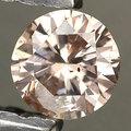 0.13 ct. Natural sin tratar diamante rosa de corte de niza con certificar glc