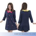 Corea moda estilo mujer vestido de gasa vestido Tamaño L-4XL tres Quater manga imprimir YP06008 de vestidos de dama