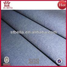 Hilo algodón 100% cambray teñidos tejido de la tela para la camisa