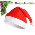 Hijos adultos rojo sombrero de navidad, tapas de navidad, papá noel de regalo