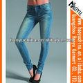 Nueva llegada skinny jeans moleton vestido de de jean para las mujeres( hy5499)