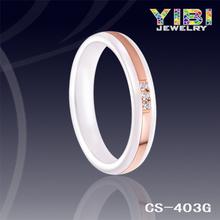 Nuevo 925 anillo de plata de cerámica especialmente diseñada Noble, anillo de cerámica de plata