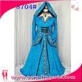 cosplay vestido vestido de sudadera con capucha del cabo del renacimiento medieval traje de juego