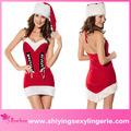 caliente de la venta al por mayor de navidad babe cabestro vestido de las niñas elf disfraces