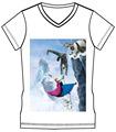 De dibujos animados de encargo llanura de impresión t- shirt
