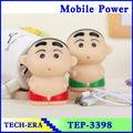 2014 el mejor regalo de dibujos animados lindo muñeca banco de potencia 2600 mah hecho en china