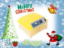 48 huevos 12V o 110V o 220V completo de mini incubadora automática del huevo para la venta