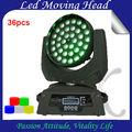 popular en movimiento la cabeza 36x10w zoom led en movimiento la cabeza de lavado efecto arcoiris