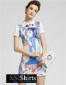 Sscshirts hermoso baratos design100% el último vestido fotos diseños