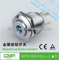 CMP interruptor de botón del metal IP67