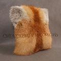 Cx-d-70 piel de zorro rojo cojín almohada cubierta