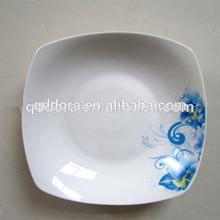 Diárias utilizadas banana cerâmica prato de folha, jantar de porcelana placas de pratos quadrados